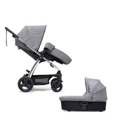 Sola2 Chrome Pushchair - Grey Marl with Footmuff and Carrycot