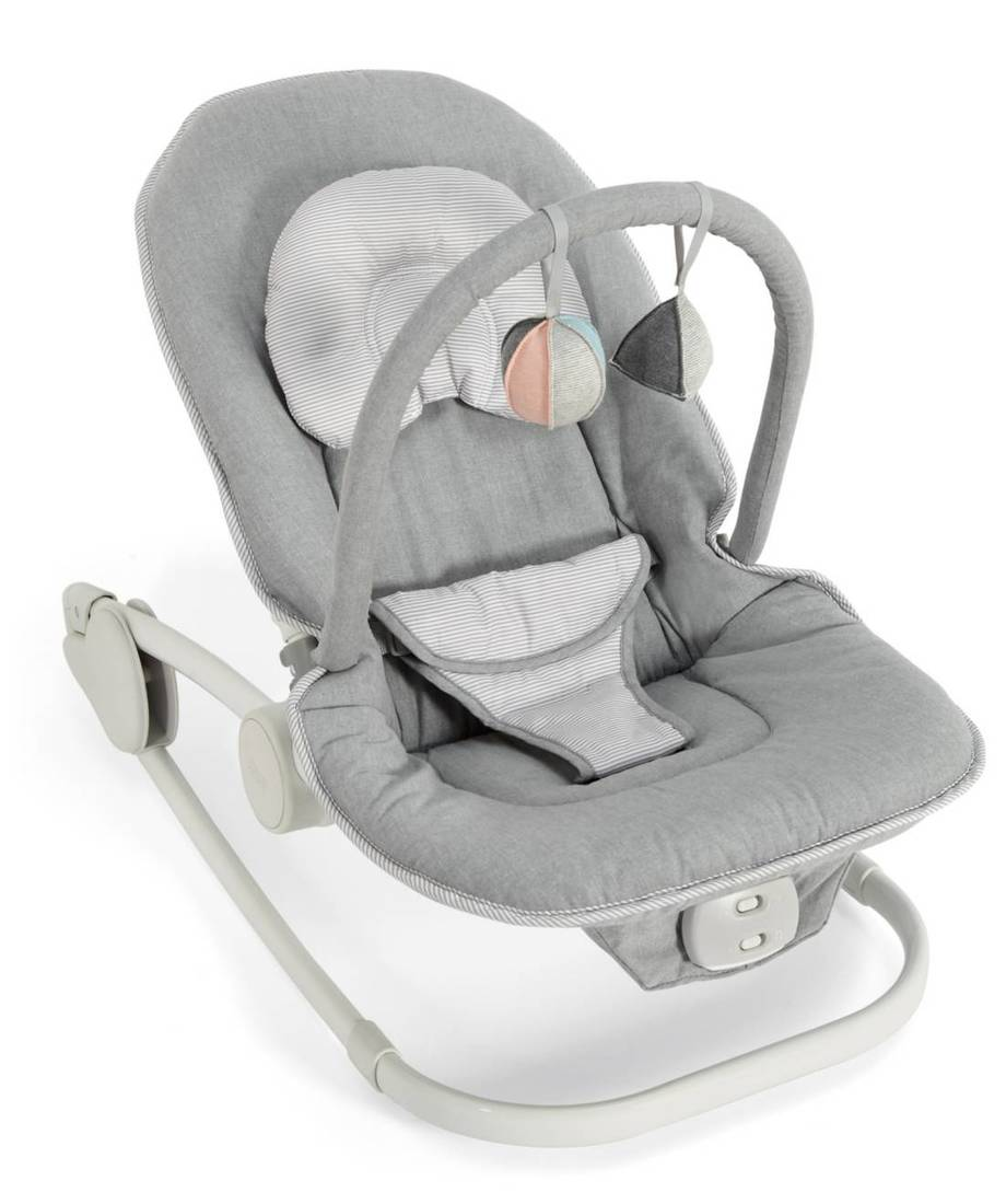 Enjoyable Wave Rocker Baby Bouncer Chair Grey Melange Mamas Evergreenethics Interior Chair Design Evergreenethicsorg